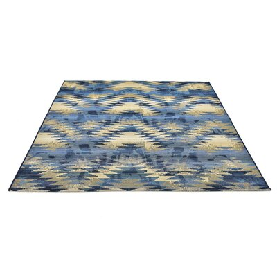 Jamie Blue Abstract Indoor/Outdoor Area Rug Rug Size: Square 6