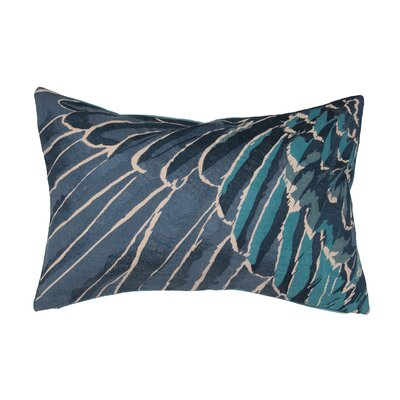 Jaimey Cotton Lumbar Pillow Color: Blue
