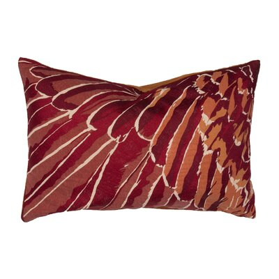 Jaimey Cotton Lumbar Pillow Color: Red