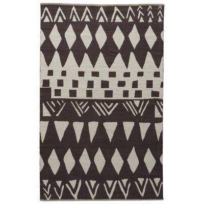 Sophia Slate Black/Bone White Area Rug Rug Size: 8 x 11