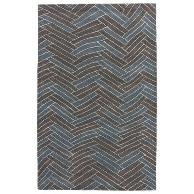 Jaimey Hand-Tufted Brown/Bluet Area Rug Rug Size: 5 x 8