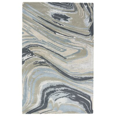 Jaimey Hand-Tufted Iceberg Green/Cement Area Rug Rug Size: 8 x 11