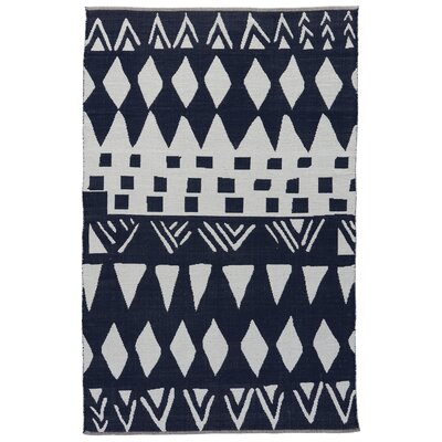 Sophia Phantom/Light Gray Area Rug Rug Size: 5 x 8