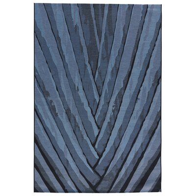 Sophia Dark Slate/Blue Graphite Indoor/Outdoor Area Rug Rug Size: 8 x 11