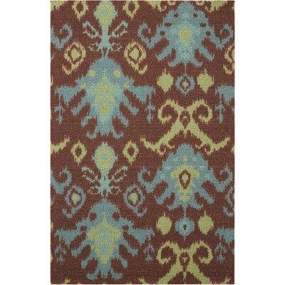 Tahani Chocolate/Blue Area Rug