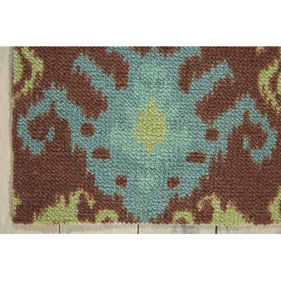 Tahani Chocolate/Blue Area Rug