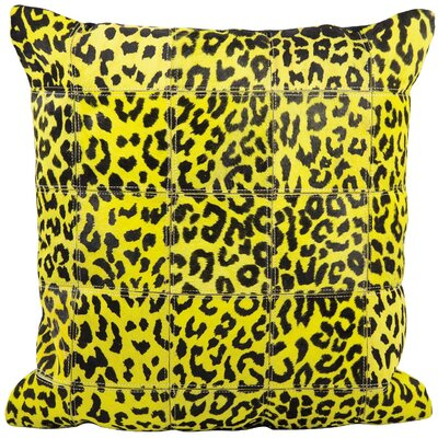 Betsy Leather Throw Pillow Color: Yellow