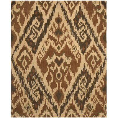 Camden Hand Tufted Brown Area Rug Rug Size: 4 x 6