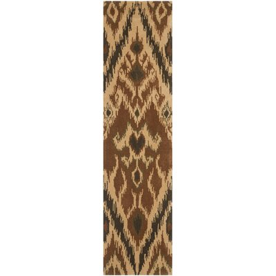 Camden Hand Tufted Brown Area Rug Rug Size: Runner 23 x 9