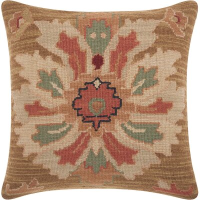 Riddle Floral Wool Throw Pillow