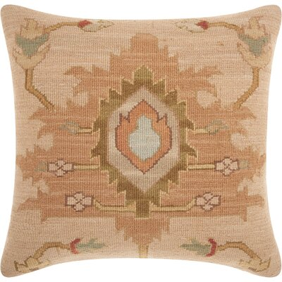 Riddle Square Wool Throw Pillow