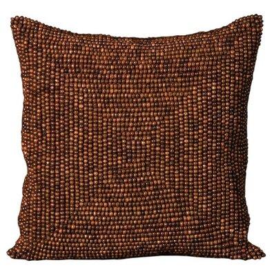 Willem Wood Beads Throw Pillow