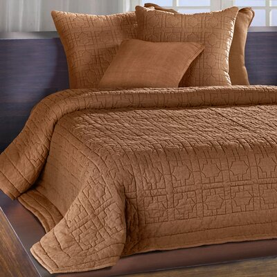 Nouaceur Quilt Size: King, Color: Cognac