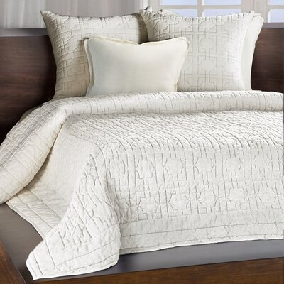 Amanda Quilt Size: King, Color: Ivory