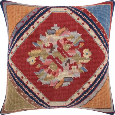 Riddle Rustic Wool Throw Pillow