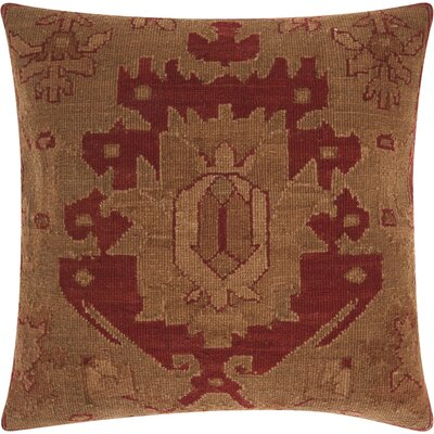 Riddle Rustic Square Wool Throw Pillow