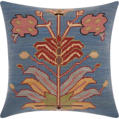 Riddle Zipper Wool Throw Pillow