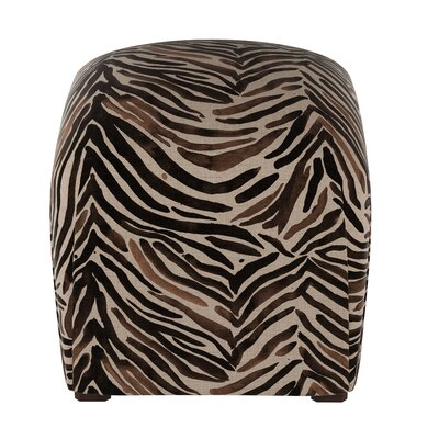 Genevie Washed Zebra Ottoman