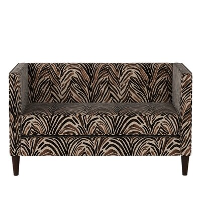 Genevie Five Button Washed Zebra Loveseat