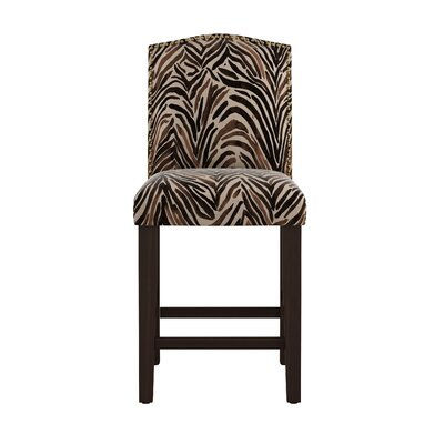 Genevie Arched Washed Zebra 26 Bar Stool