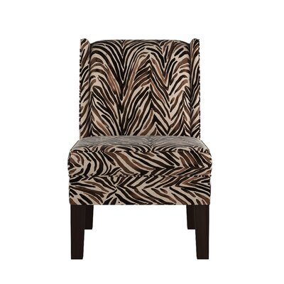 Wingback Chair Upholstery: Washed Zebra Chocolate OGA