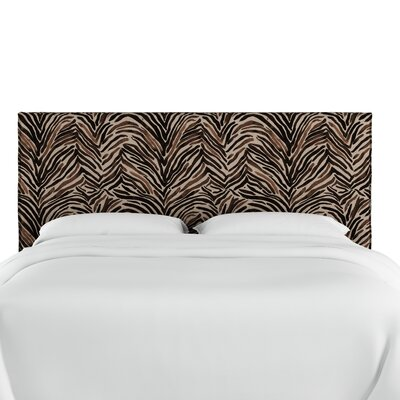 Genevie Slipcover Washed Zebra Upholstered Panel Headboard Size: Queen
