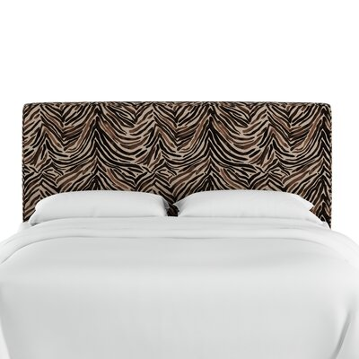 Genevie Washed Zebra Upholstered Panel Headboard Size: Queen
