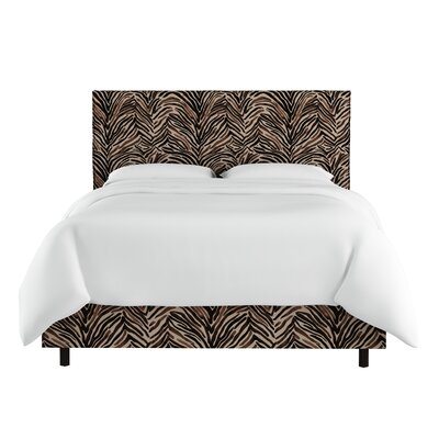 Santio Slipcover Washed Zebra Upholstered Panel Bed Size: Queen