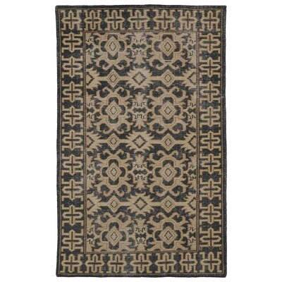 Deol Black/Beige Area Rug Rug Size: Rectangle 56 x 86