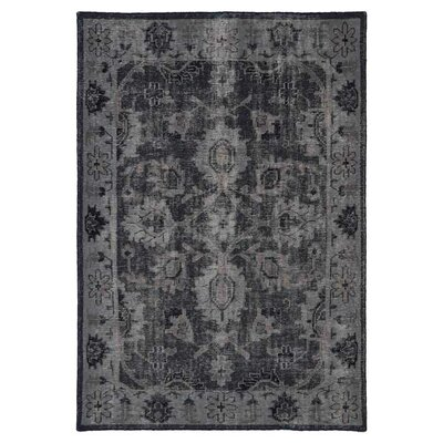 Deol Black Area Rug Rug Size: Rectangle 56 x 86