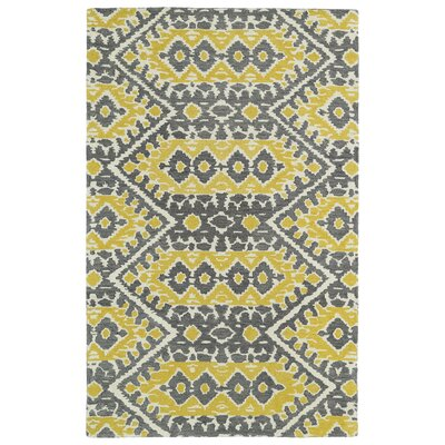 Kasa Yellow Area Rug Rug Size: Rectangle 36 x 56
