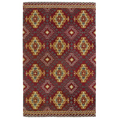 Kasa Red Area Rug Rug Size: Rectangle 2 x 3