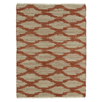 Jamaris Beige/Paprika Area Rug Rug Size: Rectangle 36 x 56