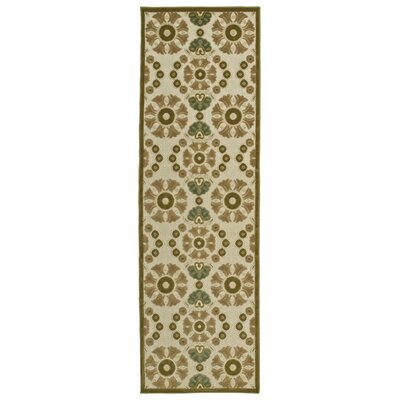 Mumtaz Machine Woven Olive Indoor/Outdoor Area Rug Rug Size: 310 x 58