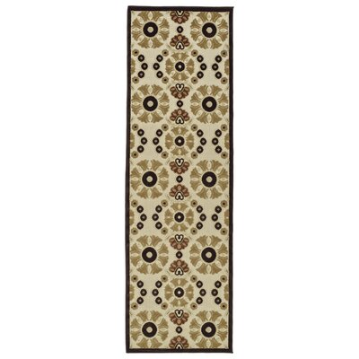 Mumtaz Machine Woven Khaki Indoor/Outdoor Area Rug Rug Size: Runner 26 x 71