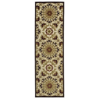 Mumtaz Machine Woven Khaki/Brown Indoor/Outdoor Area Rug Rug Size: Rectangle 5 x 76