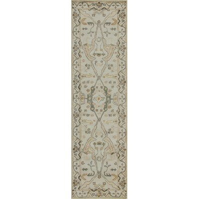 Rania Hand-Tufted Beige Area Rug Rug Size: Runner 23 x 8