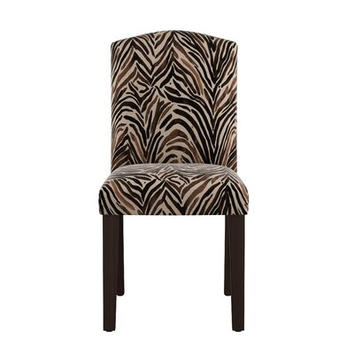 Santio Arched Washed Zebra Side Chair