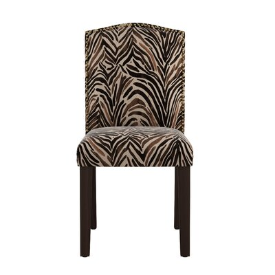 Genevie Nail Button Arched Washed Zebra Side Chair