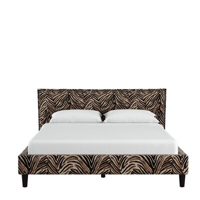 Genevie Seamed Washed Zebra Upholstered Platform Bed Size: Queen