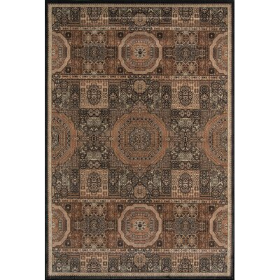 Sergio Brown Area Rug Rug Size: 53 x 79