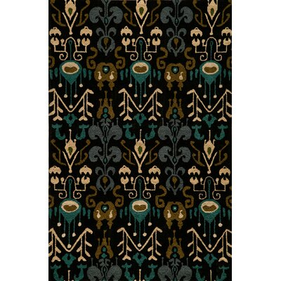 Elvera Hand-Tufted Black Area Rug Rug Size: Rectangle 36 x 56