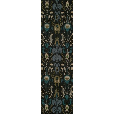 Elvera Hand-Tufted Black Area Rug Rug Size: Runner 23 x 8