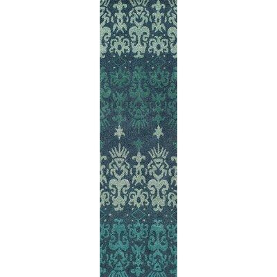 Elvera Hand-Tufted Blue Area Rug Rug Size: Runner 23 x 8