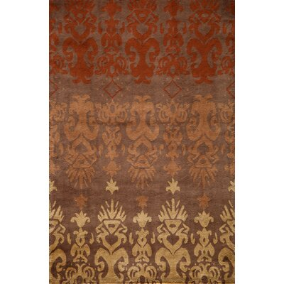 Elvera Hand-Tufted Brown Area Rug Rug Size: 2 x 3