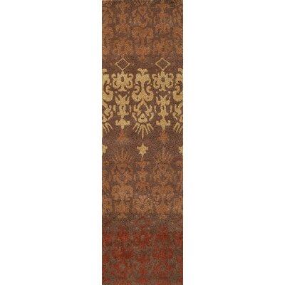 Elvera Hand-Tufted Brown Area Rug Rug Size: Runner 23 x 8