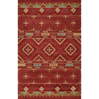 Elvera Hand-Tufted Red Area Rug Rug Size: Rectangle 36 x 56