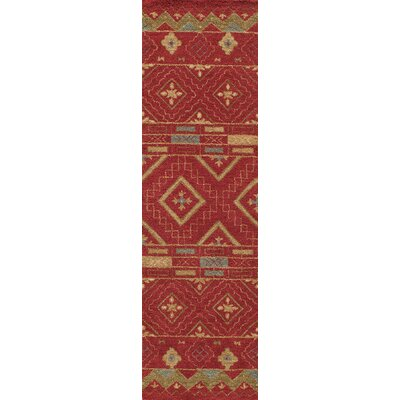 Elvera Hand-Tufted Red Area Rug Rug Size: Runner 23 x 8
