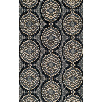 Elvera Hand-Tufted Gray Area Rug Rug Size: Rectangle 36 x 56