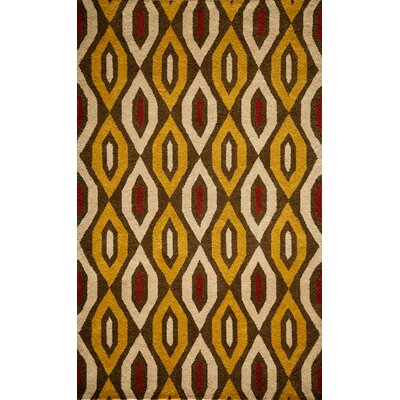 Elvera Hand-Tufted Gold/Yellow Area Rug Rug Size: 5 x 8